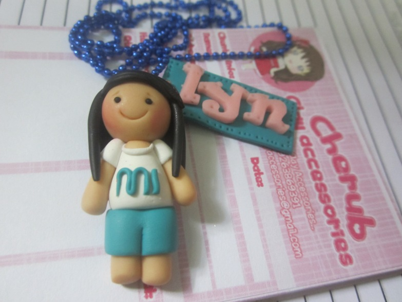 Chibi with Name necklace