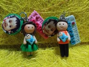 Keychain with Nameplate and Picture