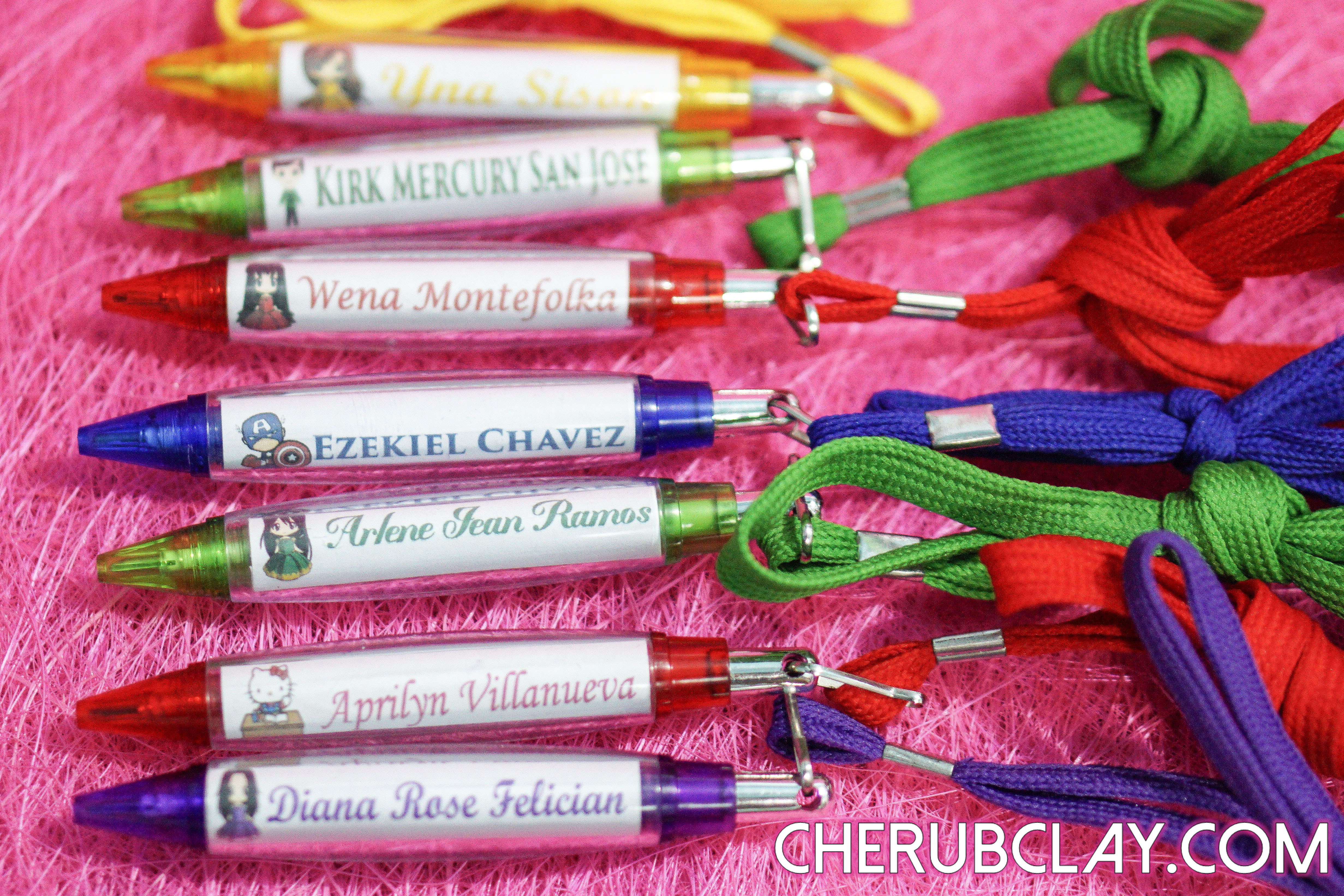 Personalized Pens and Notepad – Cherub Clay