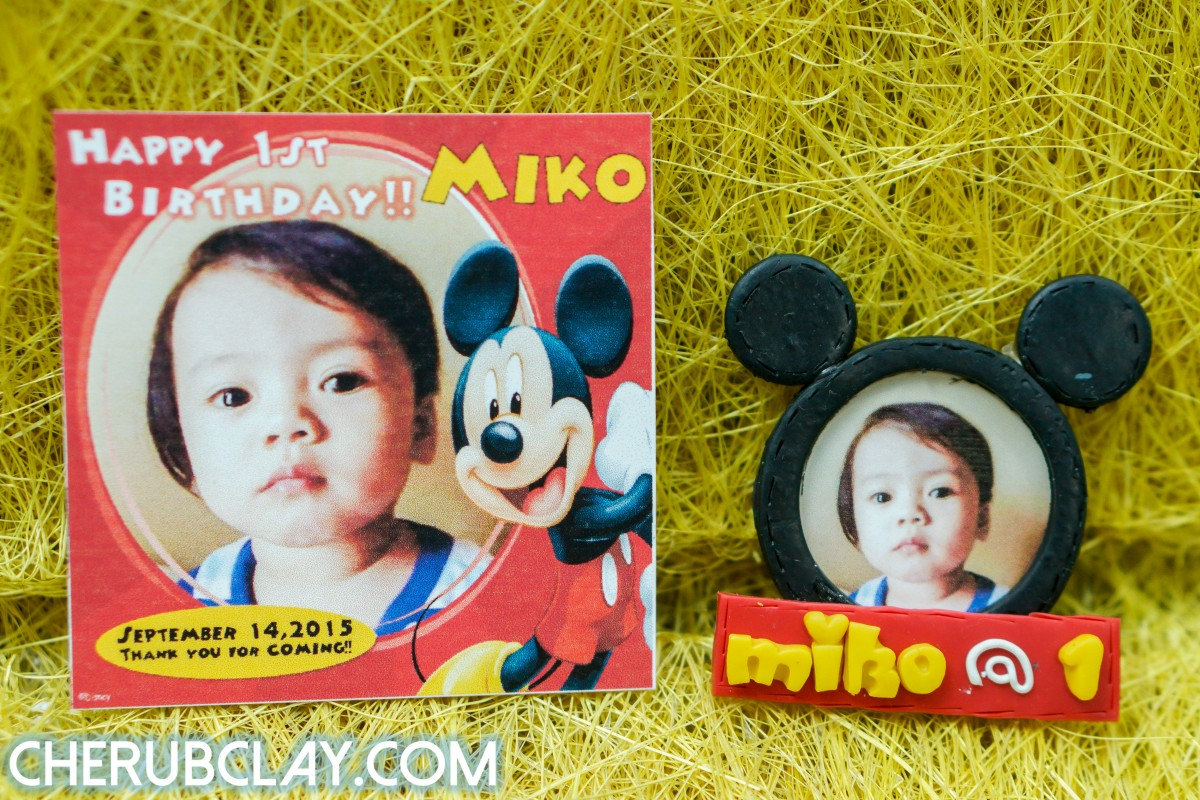 Miko's 1st Birthday Souvenir (Mickey Mouse Theme)