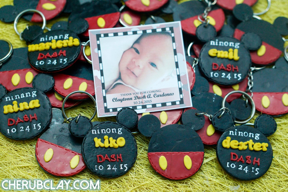Mickey Mouse Themed Baptismal Souvenir